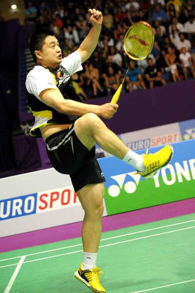 李宁AYAE007-4蓝天台球--羽毛球鞋--LI-NING刘菘体育图片