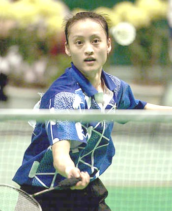 龚智超在九运会羽赛中