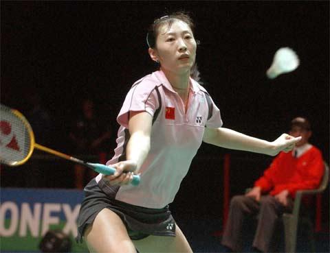 图文 全英羽毛球公开赛,张宁八强战击败皮红艳